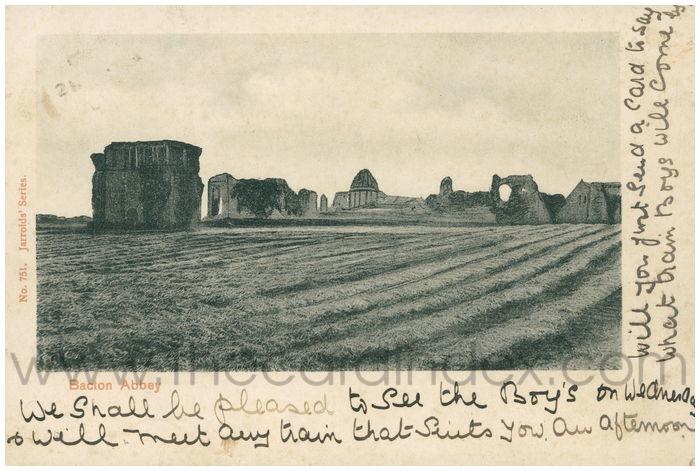 Postcard front: Bacton Abbey