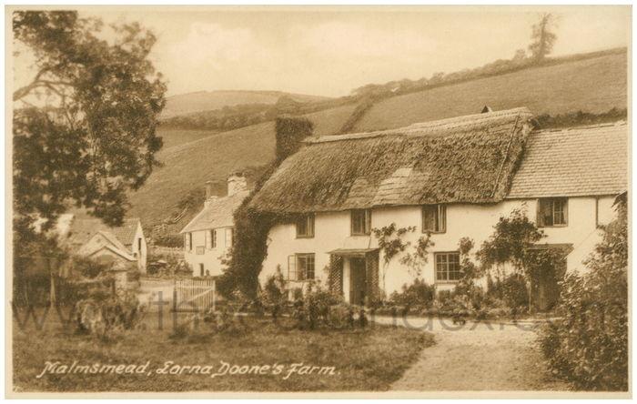 Postcard front: Malmsmead, Lorna Doone's Farm.
