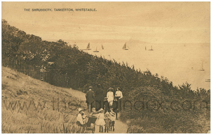 Postcard front: The Shrubbery, Tankerton, Whitstable.