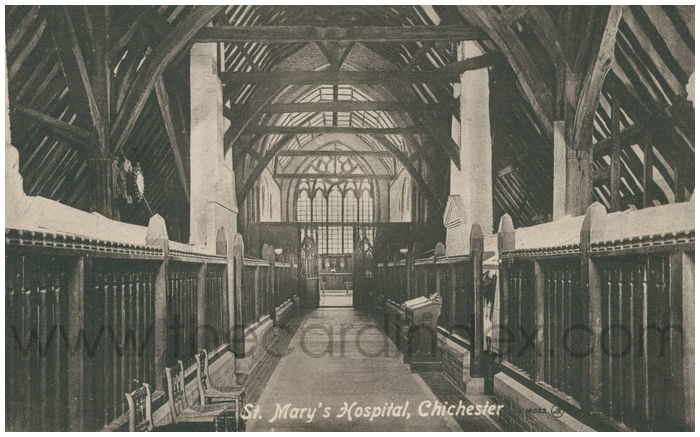 Postcard front: St. Mary's Hospital, Chichester