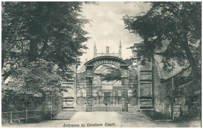 Postcard front: Entrance to Corsham Court.