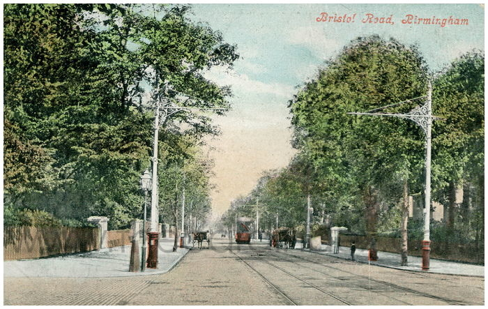 Postcard front: Bristol Road, Birmingham