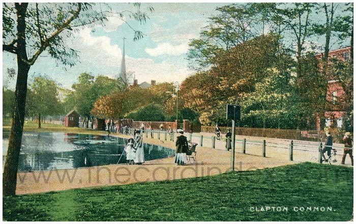 Postcard front: Clapton Common.