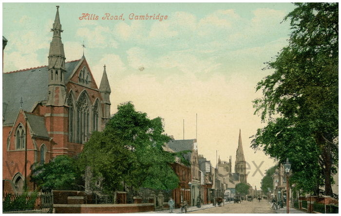 Postcard front: Hills Road, Cambridge