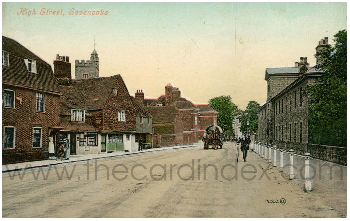 Postcard front: High Street, Sevenoaks