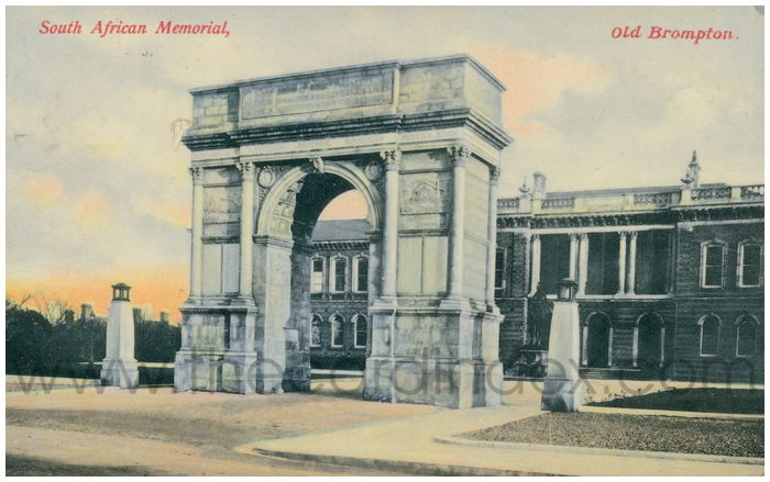 Postcard front: South African Memorial, Old Brompton.
