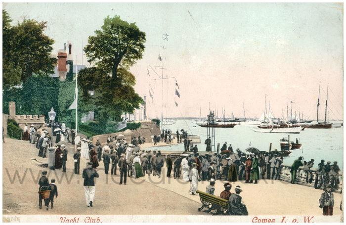 Postcard front: Yacht Club. Cowes I. o W.