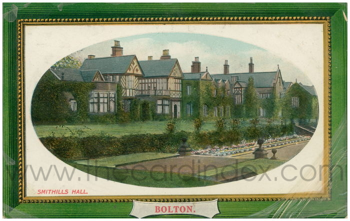 Postcard front: Smithills Hall. Bolton.