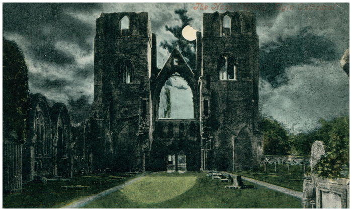 Postcard front: The Nave West Elgin Cathedral