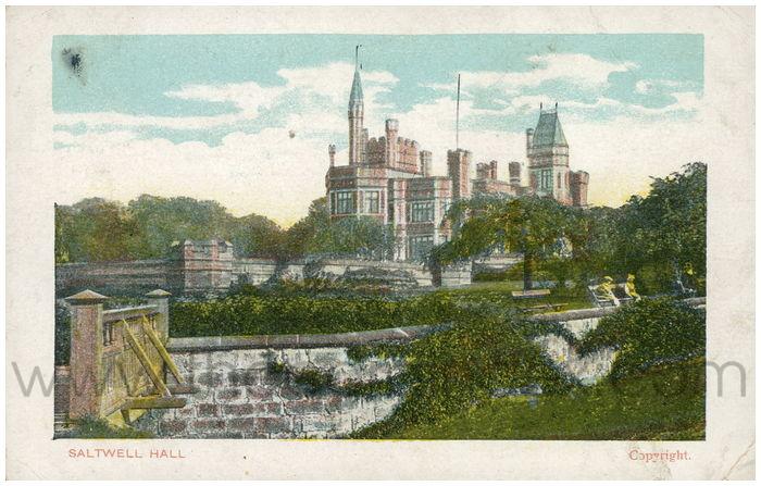 Postcard front: Saltwell Hall