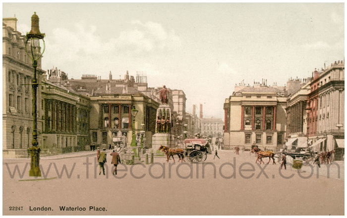 Postcard front: London. Waterloo Place.