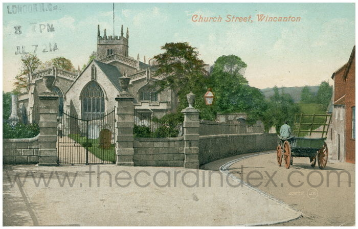 Postcard front: Church Street, Wincanton