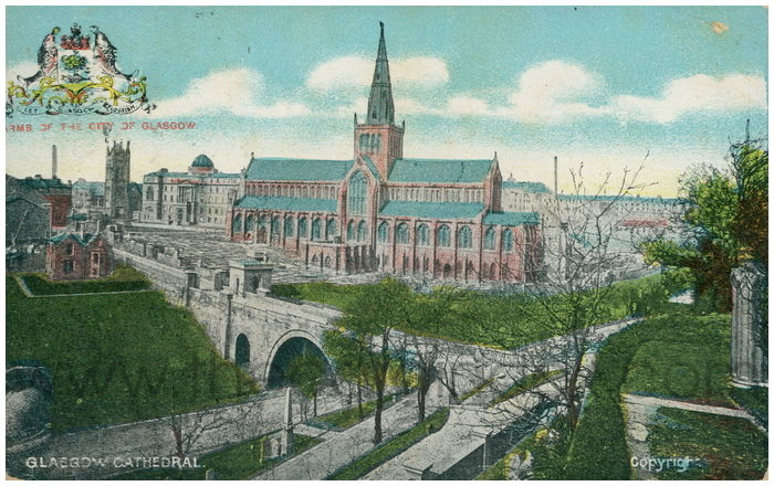 Postcard front: Glasgow Cathedral.