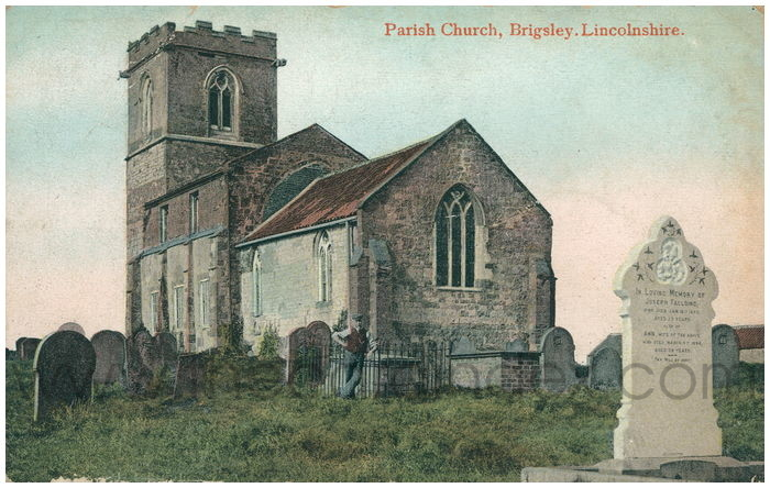 Postcard front: Parish Church, Brigsley. Lincolnshire.