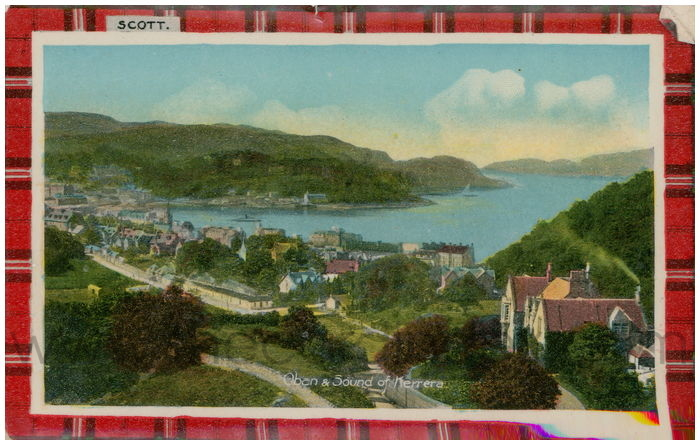 Postcard front: Oban & Sound of Kerrera.