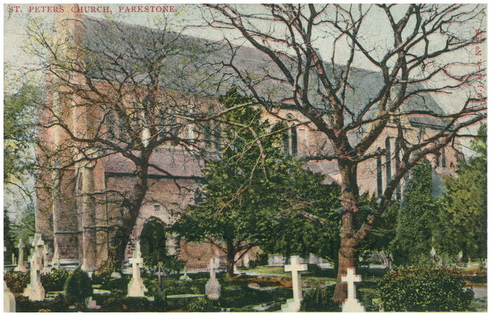 Postcard front: St. Peter's Church, Parkstone.