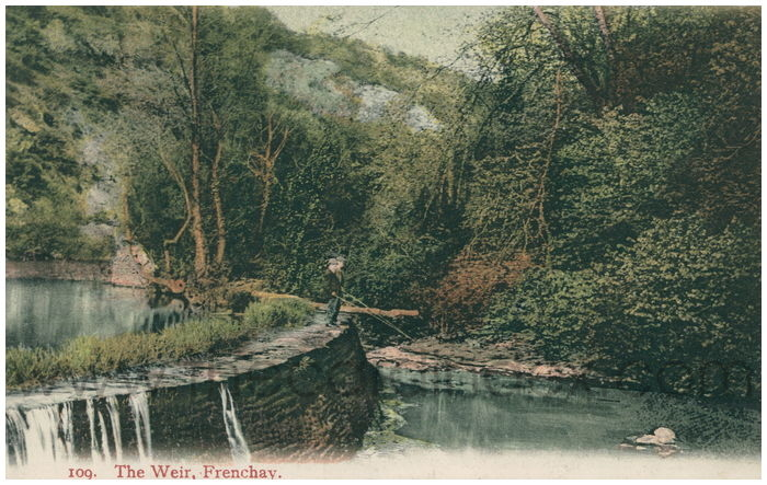 Postcard front: The Weir, Frenchay.