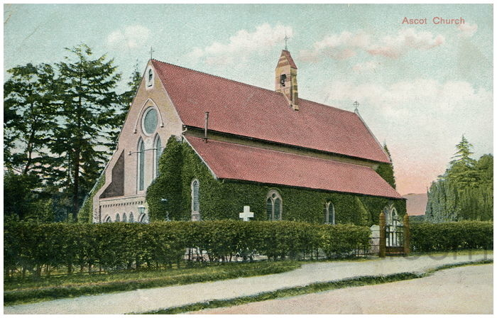 Postcard front: Ascot Church