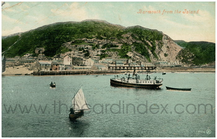 Postcard front: Barmouth from the Island