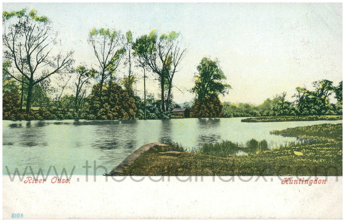 Postcard front: River Ouse. Huntingdon