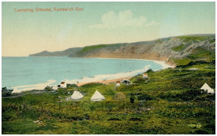 Postcard front: Camping Ground, Runswick Bay