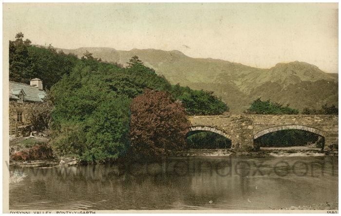 Postcard front: Dysynni Valley, Ponty-y-Garth