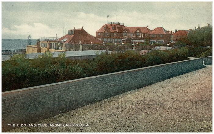 Postcard front: The Lido and Club, Angmering-on-Sea.