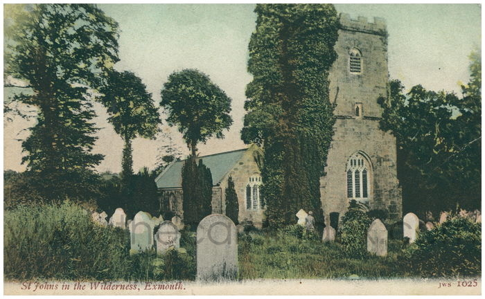Postcard front: St Johns in the Wilderness, Exmouth.