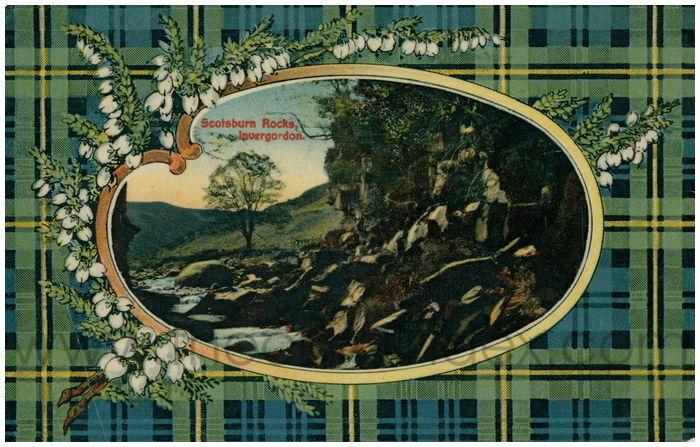 Postcard front: Scotsburn Rocks, Invergordon.