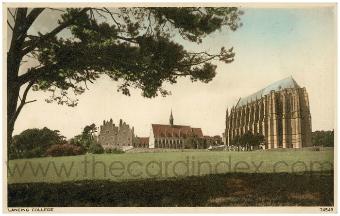 Postcard front: Lancing College