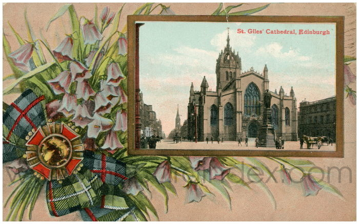 Postcard front: St. Giles' Cathedral, Edinburgh