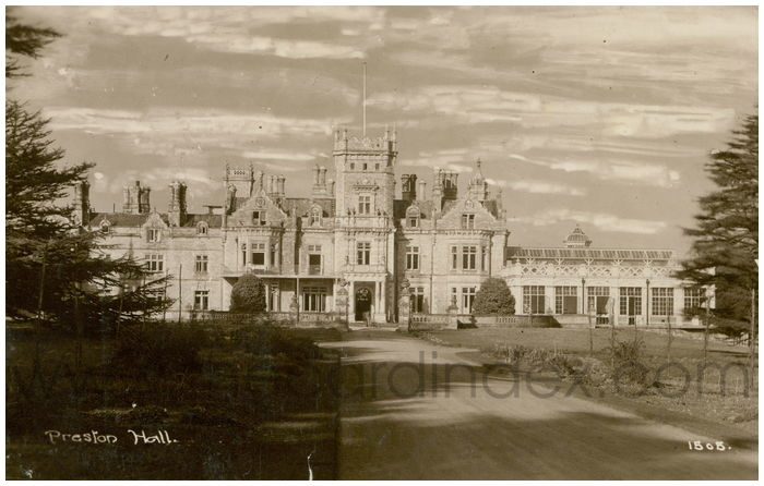 Postcard front: Preston Hall