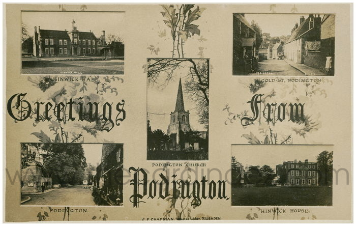Postcard front: Greetings from Podington