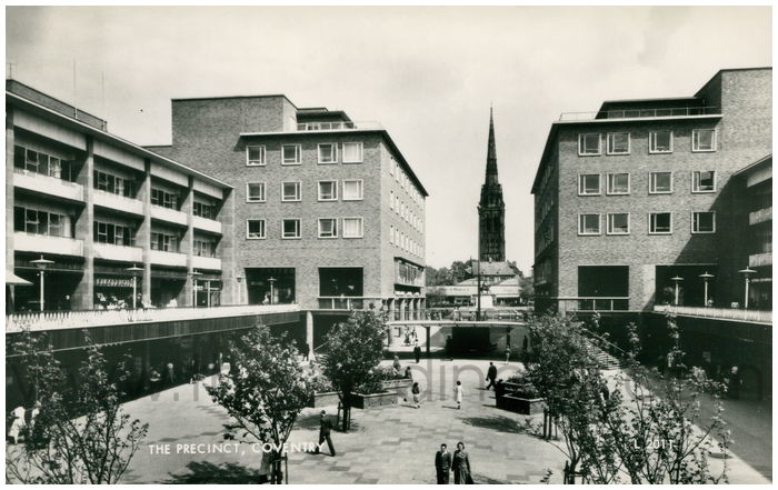 Postcard front: The Precinct, Coventry