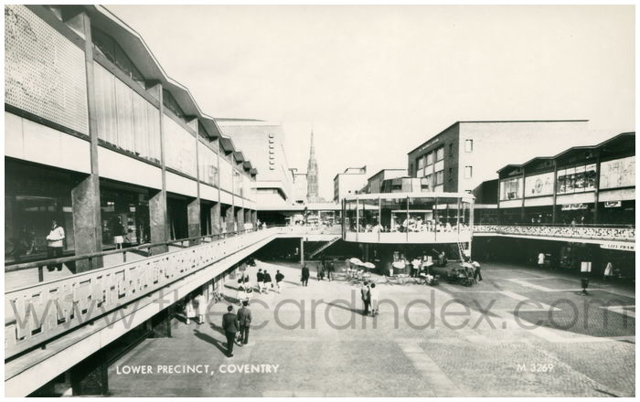 Postcard front: Lower Precinct, Coventry