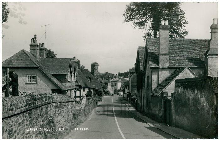 Postcard front: Upper Street, Shere