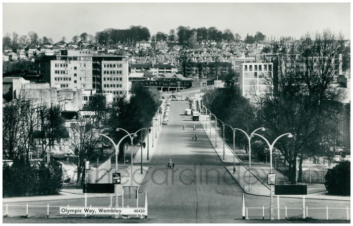 Postcard front: Olympic Way, Wembley