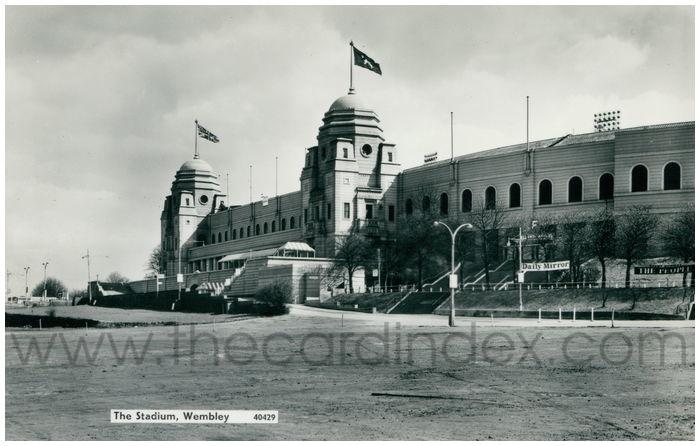 Postcard front: The Stadium, Wembley