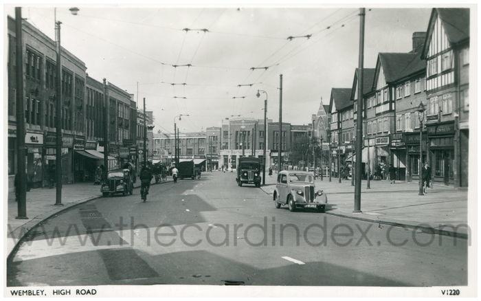 Postcard front: Wembley, High Road