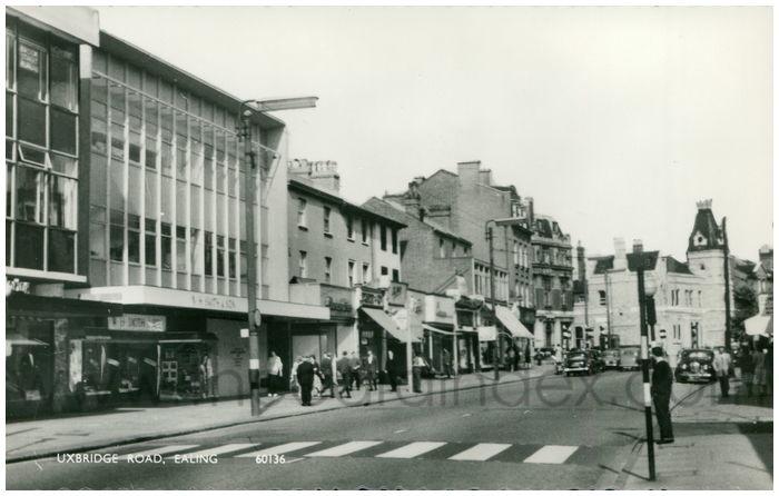 Postcard front: Uxbridge Road, Ealing