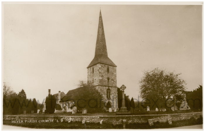 Postcard front: Hever Parish Church