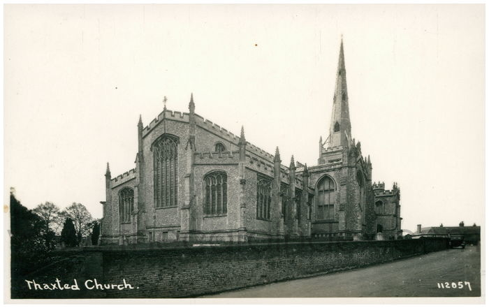 Postcard front: Thaxted Church