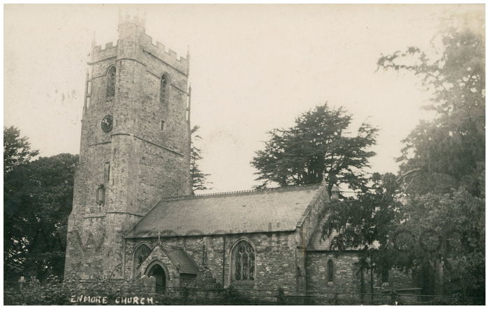 Postcard front: Enmore Church