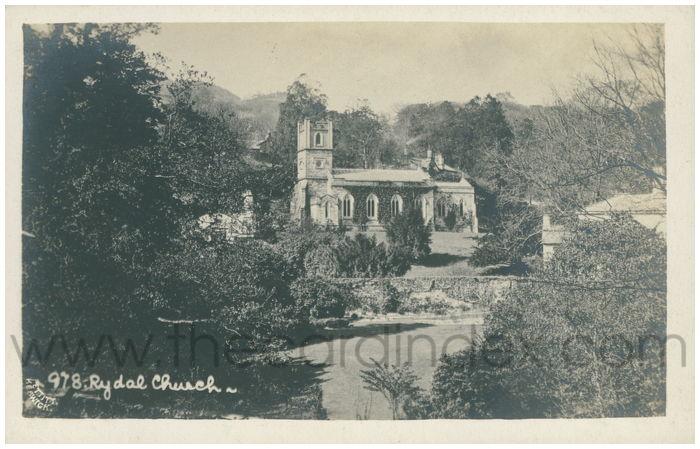 Postcard front: Rydal Church