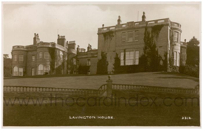 Postcard front: Lavington House.