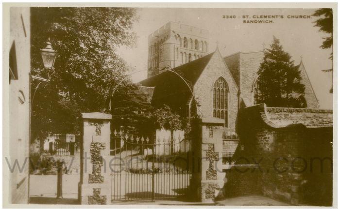 Postcard front: St. Clement's Church Sandwich