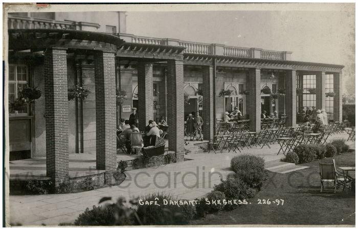 Postcard front: Cafe Dansant. Skegness.