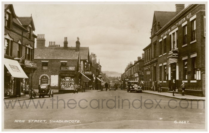 Postcard front: High Street, Swadlincote
