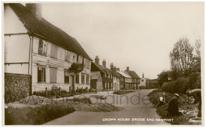 Postcard front: Crown House Bridge End Newport