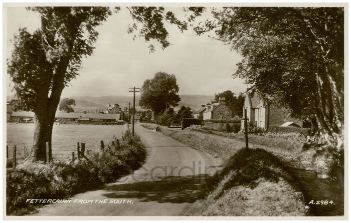 Postcard front: Fettercairn From The South.
